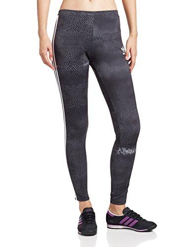 adidas M Moon Leggings Damen Tights 36 Schwarz/Grau/Weiß