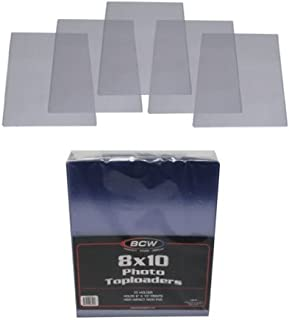 (10) 8X10 Photograph Topload Holders - Rigid Plastic Sleeves - BCW Brand