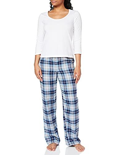 Marca Amazon - Iris & Lilly Pijama de Modal Mujer, Multicolor (Blue), XL, Label: XL