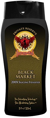 Immoral Black Market 200X Private Reserve Tanning Lotion   Bronzer Free, Tingle Free, Tattoo Safe, Streak Free Outdoor/Indoor Tanning Bed Silicone Intensifier, Accelerator and Tan Maximizer, 11Oz