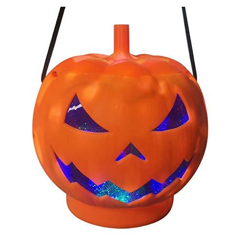 2020 Fashion Halloween Light LED Kürbislampe für Partydekoration Kürbislampe (Orange, 25cm×25cm/9.8×9.8)