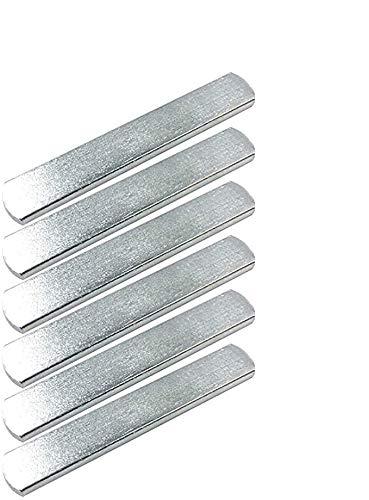 CLISPEED 6 Stück Edelstahl Fitness Bar Gewichtswesten Trainingsplatten für Joggen Sport Laufen Gym (Silber)