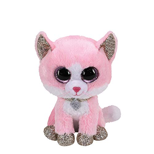 Claire's Official Ty Beanie Boo Amaya The Cat Soft Plush Toy for Girls, Pink, Small, Stocking Stuffer, 6 Inch