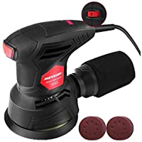 Meterk 5 Inch Random Orbit 2.5A Electric Hand Sander Machine