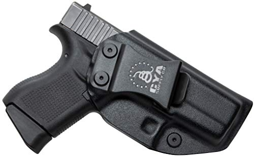 CYA Supply Co. Fits Glock 43 / 43X Inside Waistband Holster Concealed Carry IWB Veteran Owned Company (Black, 018- Glock 43 / 43X)