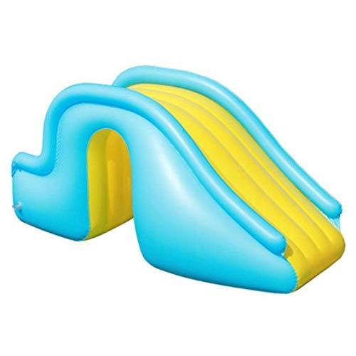Aufblasbare Wasserrutsche, aufblasbare Wasser-Folien mit Luftpumpe, breitere Schritte freudig Schwimmbad-Lieferungen, Sommer-Wasser-Party-Wasser-Folien for Kinder Indoor Outdoor-Play, 150x90x62cm ggsm