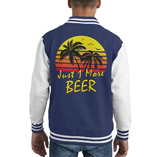 Cloud City 7 Just 1 More Beer Vintage Sun Kid\'s Varsity Jacket