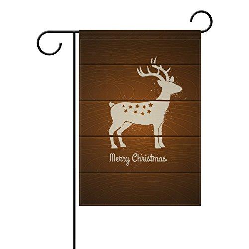 Bennigiry Cerf sur drapeau de jardin en bois Maison 30,5 x 45,7 cm Polyester Drapeau pour jardin Décoration de bienvenue, Polyester filé, multicolore, 28x40(in)