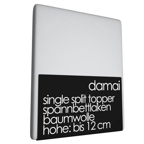 Damai Split Topper laken, lichtgrijs - 8-12cm - 160 x 220 cm 100% katoen