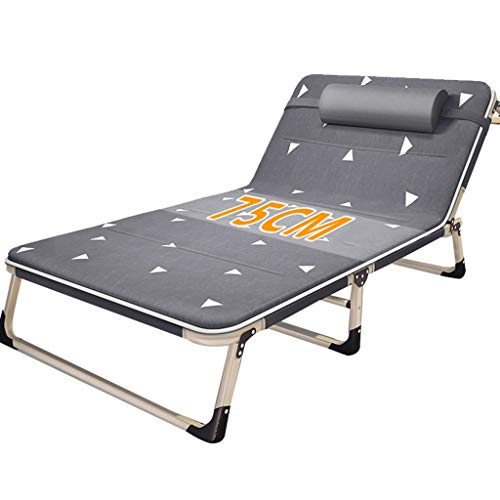 Bain de soleil Lit de repos inclinable Chaise de relaxation Piscine Zero Gravity Chaise longue pliante Lit bébé réglable Camping Plage de bronzage (Couleur : Chair+cushion a)