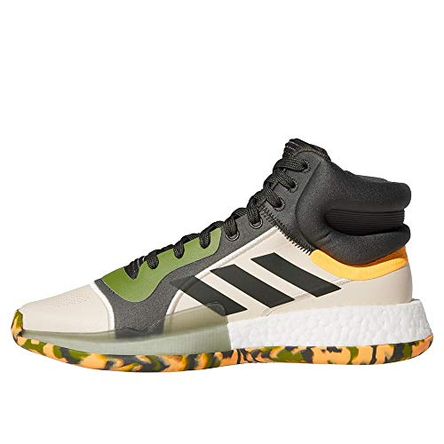 adidas Performance Marquee Boost Men's Basketball Shoes, Green/Beige, 12.5...