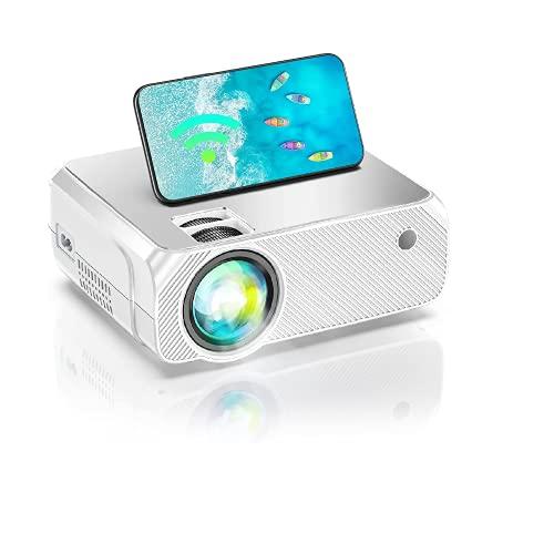 Proiettore WiFi, Proiettore di Film Portatile, Proiettore per Esterni 1080P Nativo Full HD Supportato, Videoproiettore per IPhone, Android, Laptop, HDMI