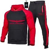 Hickeyy Hombres Jogging Chándal Ho.N-Da.s Gold.wing Dos Piezas Raglán Sudadera con Capucha + Pantalones Casual/E/XL sponyborty