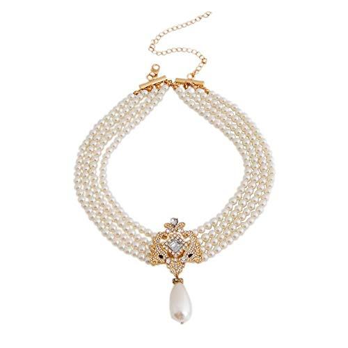 TLZR Halsband Halskette Perlenhalsband Perlenhalskette Silberhalskette Frauen Silberne Kette Für Halsband