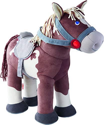 HABA Caballo Joey 305464 - Caballo de Peluche y Accesorios para muñecas, 35 cm, Juguete a Partir de 18 Meses