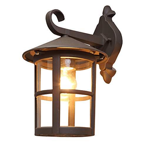 LHG Außenleuchte rustikal braun im Landhausstil | hochwertige Wandlampe für Außen aus Alu + Acrylglas | Außenwandleuchte klassisch IP44