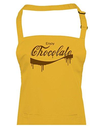 FatCuckoo Profitez Chocolate- Funny comédie Domicile ou parodie de chef de cuisine Tablier à partir de, jaune, Taille Unique