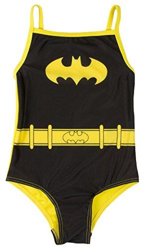 Lora Dora Badeanzug für Mädchen Gr. 2-3 Jahre, Batman-Kostüm