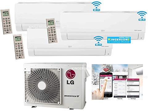 LG 3 TON 36000 BTU SEER 20 TRI Zone 12K + 12K + 12K Heat and Cool Mini Split AC Heat Pump System with Built in WiFi
