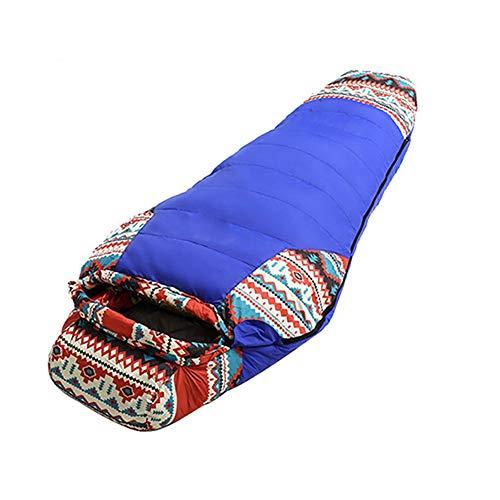 Fancylande Slaapzak voor volwassenen, donsslaapzak voor volwassenen, camping, buiten, lente, winter, slaapzak, eendendons