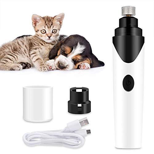 LEERAIN Molinillo UñAs para Mascotas Recortadores UñAs Pulidor UñAs Perro Molinillo Garra EléCtrico Mudo USB Recargable Profesional AutomáTico Manicura para Perros Gato Conejos