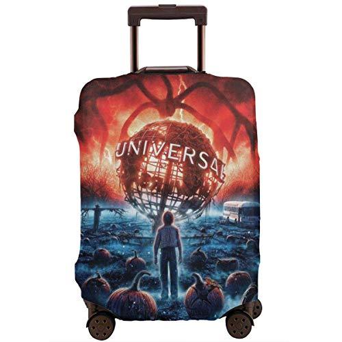 Stranger Thing's - Funda protectora para maleta de viaje con cremallera, lavable, con cremallera, personalizable, color rojo