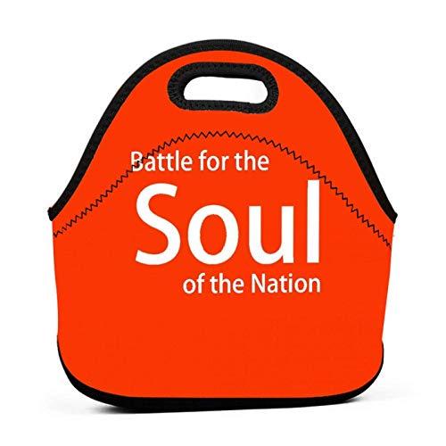 Sac à lunch Sac fourre-tout portable Pochette Bento Battle For The Soul Of The Nation Sac à lunch rouge Paquet multifonctionnel à glissière pour sac à main de bureau de travail scolaire