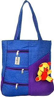 Dowet Cotton Canvas Shoulder Bag/Tote Bag For Women, Printed Multipurpose Handbag With Top Zip, Best For Shopping, Travel,...