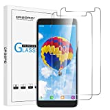 (2 Pack) Orzero Tempered Glass Screen Protector Compatible for Alcatel Onyx, Alcatel 1X (2019), 9 Hardness HD Anti-Scratch Full-Coverage (Lifetime Replacement)
