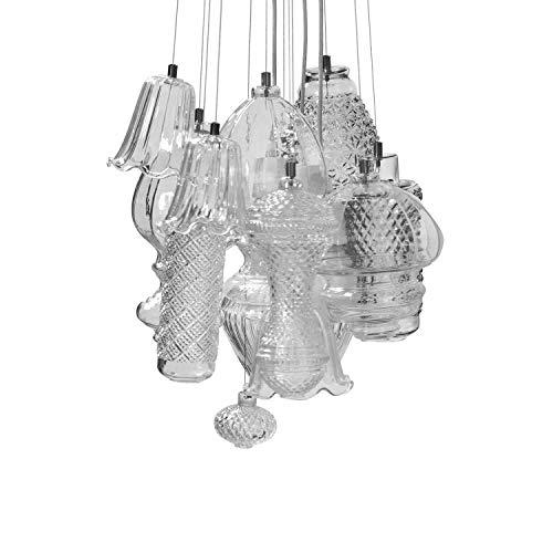 Karman Ceraunavolta lampadario composizione 12 pezzi in vetro trasparente