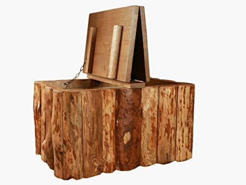 Coffre de rangement vintage en bois rustique avec motif d'arbre
