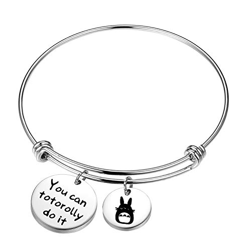 MYSOMY Totoro Keychain You are Totorolly Awesome Inspirational Pun Gifts Totoro Lover Gifts (you can totorolly do it bracelet)