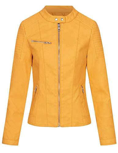 ONLY Damen Kunstlederjacke Melanie 15191823 golden apricot 38