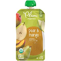 Pack of twelve, 4 ounce (Total of 48 ounces) Certified Organic & Non-GMO Project Verified Unsweetened & unsalted Kosher Parve Non-BPA packaging & child safe, recyclable cap Convenient, re-sealable & portable pouch for on-the-go feeding
