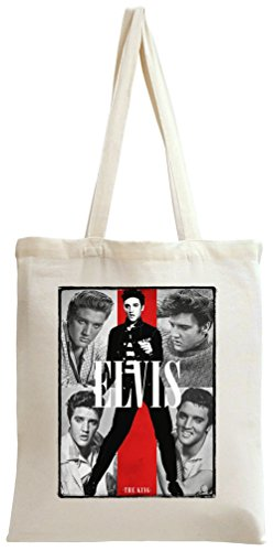 Elvis Presley The King Of Rock N Roll Tote Bag