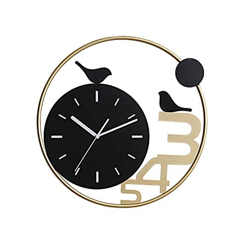 zhangshop Reloj de Pared Decorativo Reloje de Pared modernon Sala de Estar casera Reloj de Pared del pájaro Mudo Big Wall Reloj de Pared del Reloj Reloj Decorativo Relojes fáciles de Leer (Color : B)