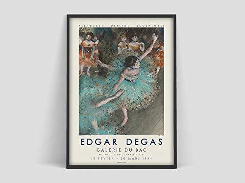 Póster de Edgar Degas Ballest, póster de clase de ballet Degas, ballet Degas, arte de museo, lienzo decorativo sin marco familiar A 60x80cm