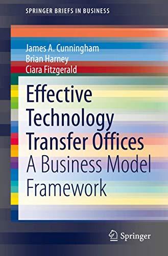 Effective Technology Transfer Offices: A Business Model Framework (SpringerBriefs in Business)