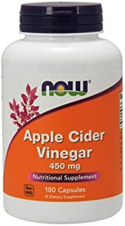 Now Foods - Apple Cider Vinegar 450 mg 180 Capsules (Pack of 3)