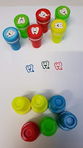Schnooridoo 12 Zahn Stempel Zähne Zahnarzt Mitgebsel Kindergeburtstag Büro Schule Giveaway Tombola