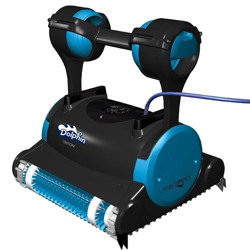 Great Deal! Dolphin 99996356 Dolphin Triton Robotic Pool Cleaner with Caddy Swivel Cable, 60-Feet