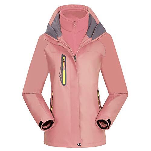 Jieyun - Chaqueta de esquí impermeable para mujer, 3 en 1, resistente...