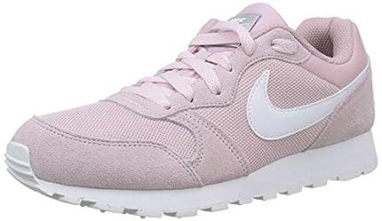 Nike MD Runner 2, Zapatillas de Running Mujer, Multicolor (Plum Chalk/White 500), 36 EU