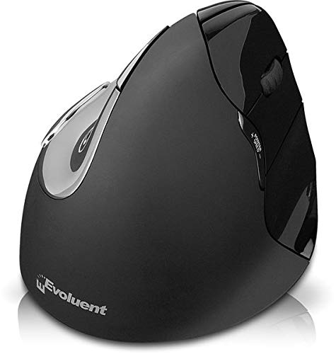 EVOLUENT Vertical Mouse 4 Mac Rechte Hand Ergonomische Maus Ergonomie PC Zubehoer fuer Mac Bluetooth, Schwarz