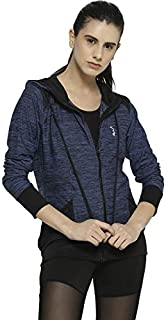 Campus Sutra Women Hooded Neck with Front Pocket Sports Jacket