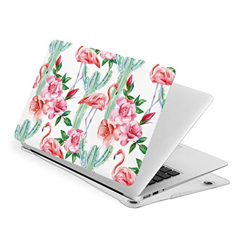 Flamingo Cacti Roses MacBook New Air 13 inch Case (A1932 & A2179) Laptop Cover Hard Shell Protective Case