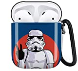 Star War Stormtrooper Aripod Personalise Custom, AirPod Case Cover Compatiable with Apple AirPods 1st/2nd,Full Protective Durable Shockproof Drop Proof with Keychain Compatible
