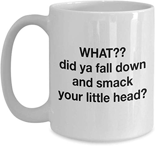 Taza de café blanco con texto en inglés 'Curse Rude Saying...