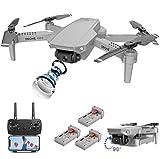 Drone FPV WiFi avec caméra 4K Vidéo en direct 110 ° Grand-angle 4CH 6-Axis Gyro RC pliable avec maintien en altitude, contrôle APP, vol de trajectoire, photos gestuelles / vidéo pour adultes