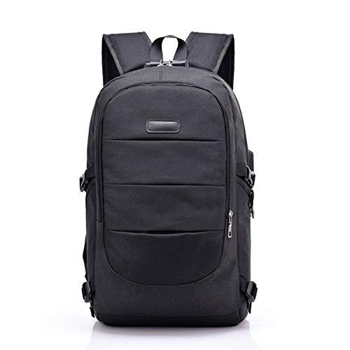LLTT Oxford Sac à Dos for Ordinateur Portable Homme Casual Sacs à Dos étanche Hommes Femmes Voyage avec USB de Charge Sac à Dos Anti Theft (Color : Black Backpack, Size : 17 inches)